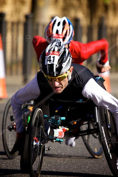 Wheelchair Athlete number 41 Competing in the Men's Wheelchair Event at the 2014 London Marathon