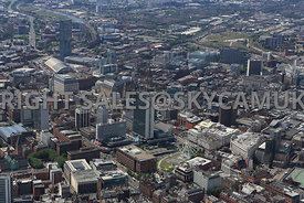 Manchester a view of central Manchester and the Three Towers Beetham Tower City Tower Manchester One with the new offices One...