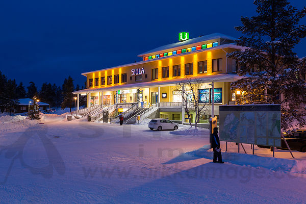 Information and shopping centre in Saariselkä resort in Inari.