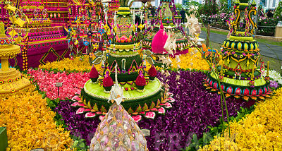Decoration at flower show