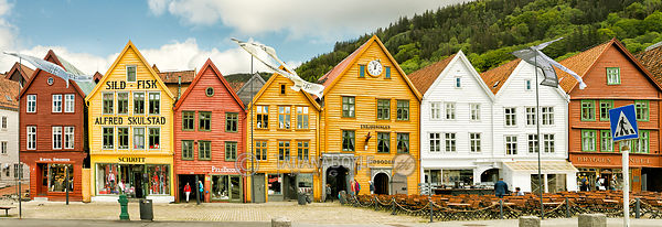 Hanseatic buildings in Bergen, Norway