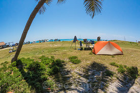Campground in Dry Tortugas National Park