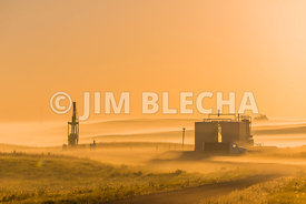 Foggy Bakken Well