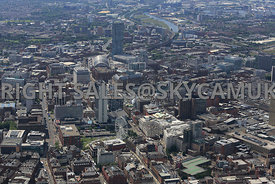 Manchester high level view across the city Portland Street Mosley Street Piccadilly Gardens Central Manchester