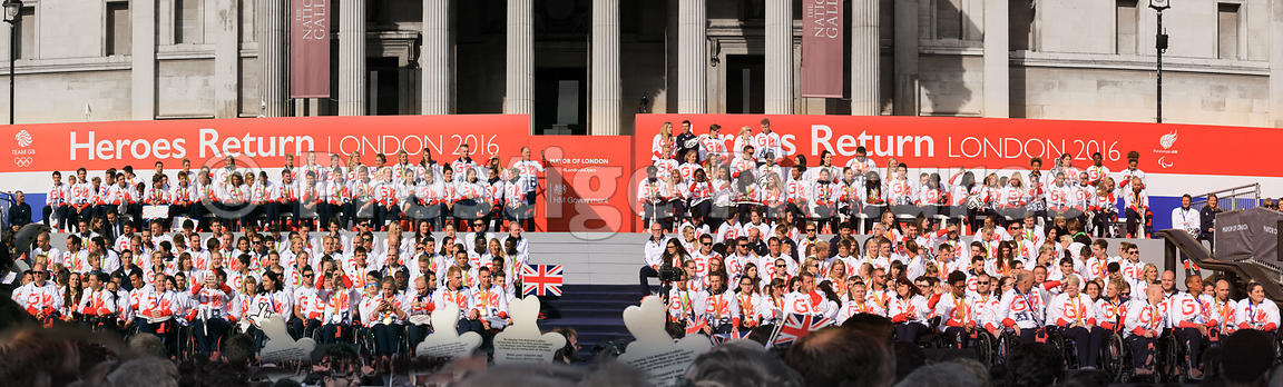 TeamGB and ParalympicGB team celebrations in Trafalgar Square, London