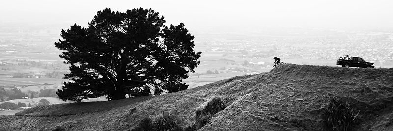 Unknown Biker - Te Mata Peak - Napier, New Zealand