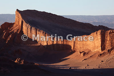 Valley of the Moon (Vallee de la Luna), Atacama, as the sun is setting, Region ll Antofagasta, Chile