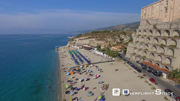 Tropea Beach and city skyline  Calabria, Italy