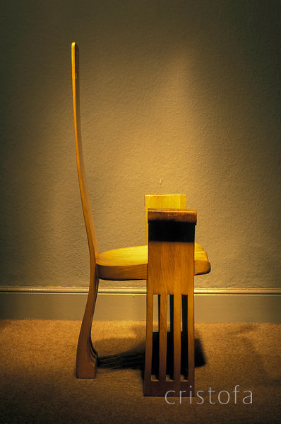 side view of the 'Caspian' elm chair