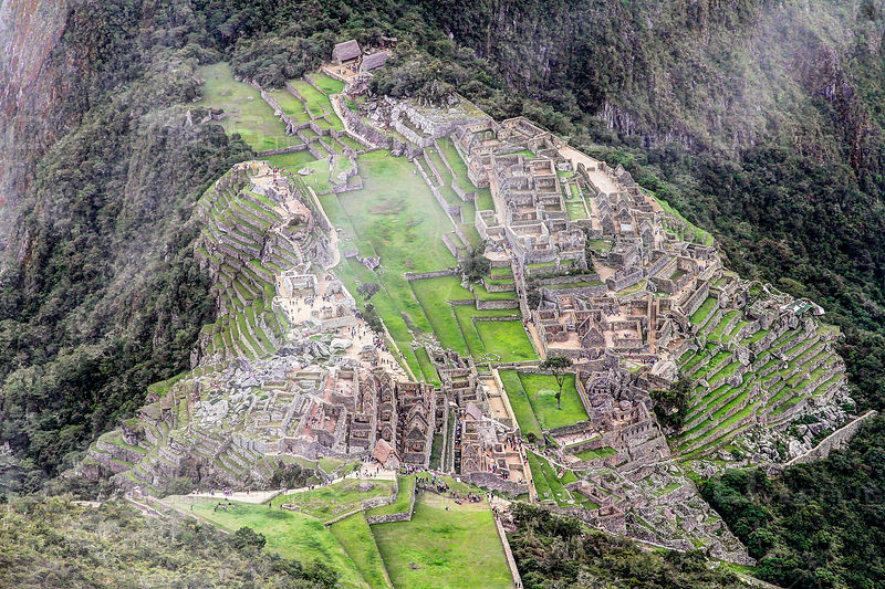 Machu Picchu Andes Mountains Peru.
