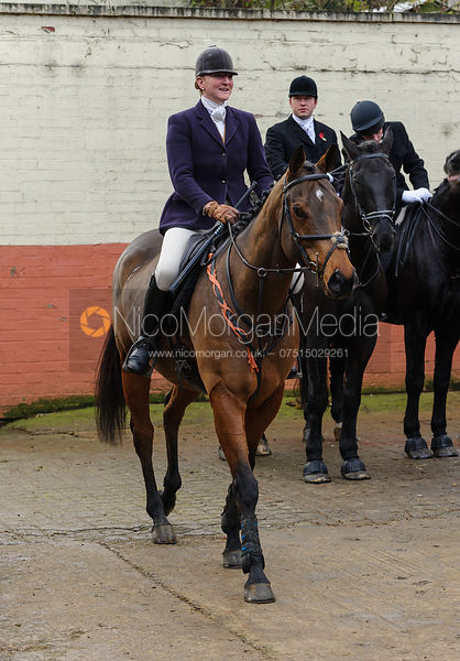 Fiona Davidson at the meet - Quorn at Cold Newton 8-11-13