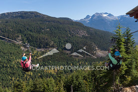 Guests enjoying Superfly ziplines at with The Adventure Group. Photo by Scott Brammer - coastphoto.com