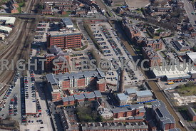 Chester aerial photograph of the developments along side the Shropshire Union Canal The Lead Works and Llyods Banking Group C...