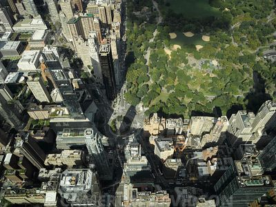 Aerial Photograph of Columbus Circle, Central Park