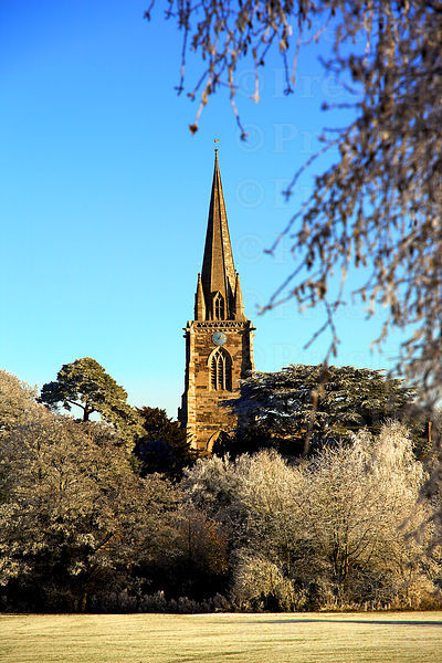 Adderbury Church Spire on a Frosty Morning