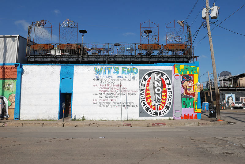 Wit's End club in Deep Ellum area of Dallas, TX