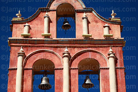 San Sebastian church bell-gable detail, Potosí, Bolivia