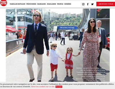 Andréa Casiraghi and his Wife, Grand Prix de Formule 1 de Monaco 2017