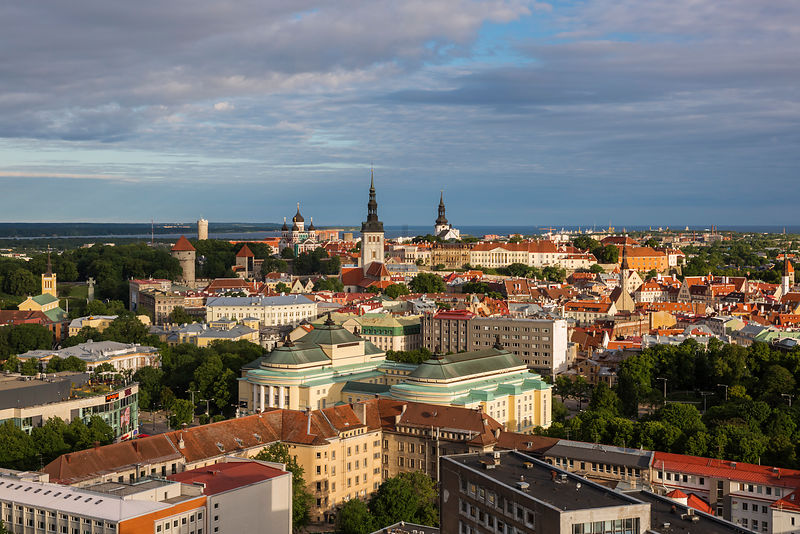 Elevated View of the Old Town of Tallin