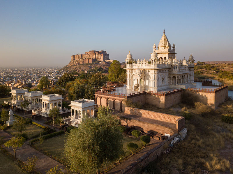 Mehrangarh Fort and Jaswant Thada Crematorium at Sunrise