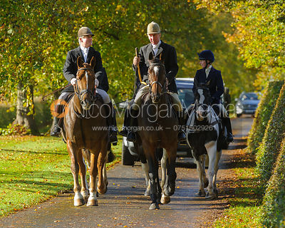 Nick  Wright, Stuart Campbell arriving at the meet at Preston Lodge - Opening Meet 2016