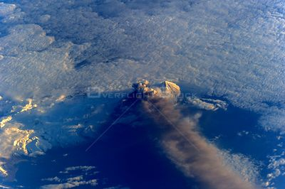 ABOARD THE INTERNATIONAL SPACE STATION -- 18 May 2013 -- Pavlof Volcano was captured in the fourth day of its eruption by one...