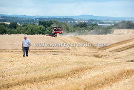 30th July, 2015.Cutting winter barley at Smarmier, County Louth is Pat McGuinness (pictured) of Richardstown with Combine dri...