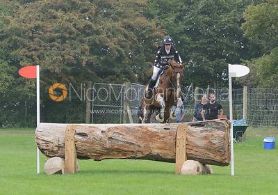 Roo Fox and FLEET STREET - cross country phase,  Land Rover Burghley Horse Trials, 6th September 2014.