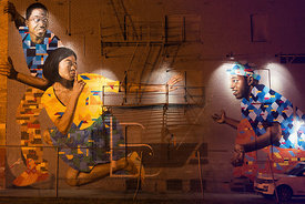 "art photography (mural) from Art All Night (Nuit Blanche) DC 2014 (""Shhh"" by James Bullough and Addison Karl)"