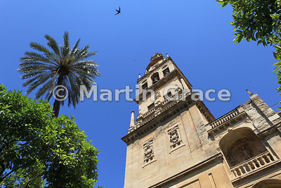 The Torre de la Mezquita (Tower of the Mezquita) or Torre del Alminar, part of the cathedral of Cordoba, Andalucia, Spain