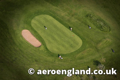 aerial photograph of Golf Course in Tyne & Wear UK