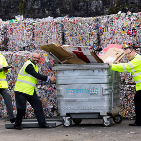 Inverclyde Council Recycling Facility, Greenock..8.9.15.The launch of the Zero Waste Scotland / SEPA technical document for l...