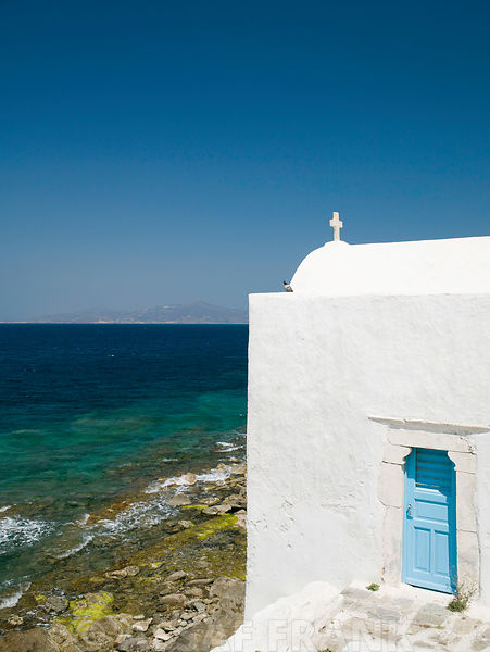 Church by the sea, Greece, Mykonos Island