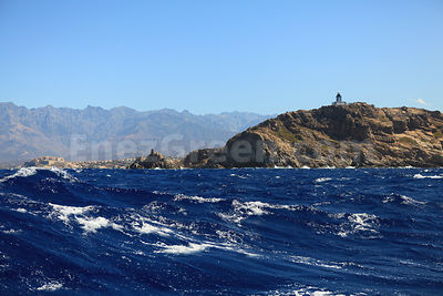 Gale starting in front Calvi Corsica