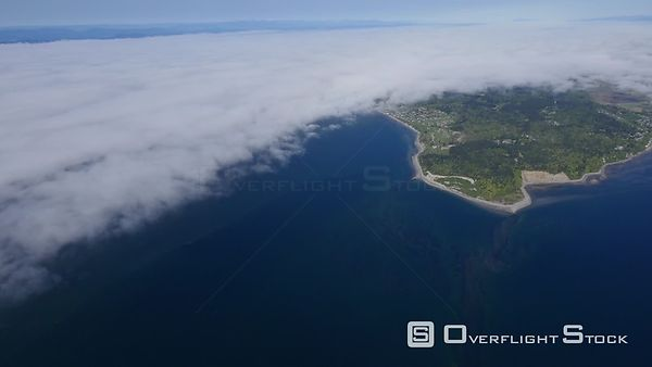 Point Roberts Washington State Shrouded in Fog