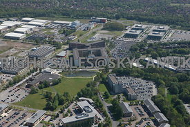 Warrington aerial photograph of Chadwick House Birchwood Business Park