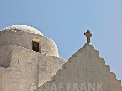 Church against sky, Greece, Mykonos Island