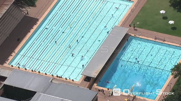 Aerial shot of a large swimming pool Bloemfontein Free State South Africa