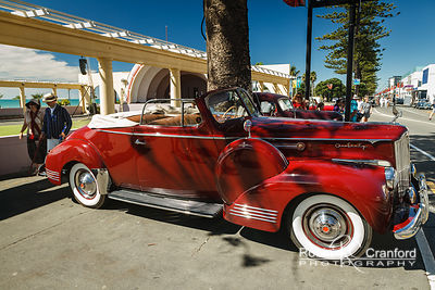Art Deco Sunday 2014. 1941 Packard Roadster 160.  License Plate EWA378