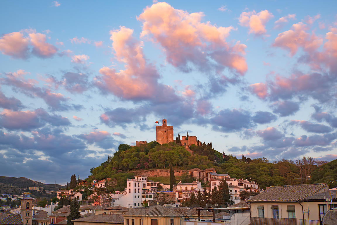 COLORFUL SKY OVER THE ALHAMBRA