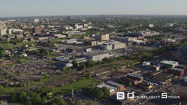 Drone Video Suburban Commercial and Residential Detroit Michigan