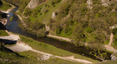 Fly fishing at Dovedale