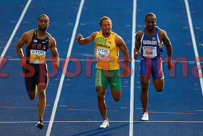 Michael Frater (JAM),Tyson Gay (USA)