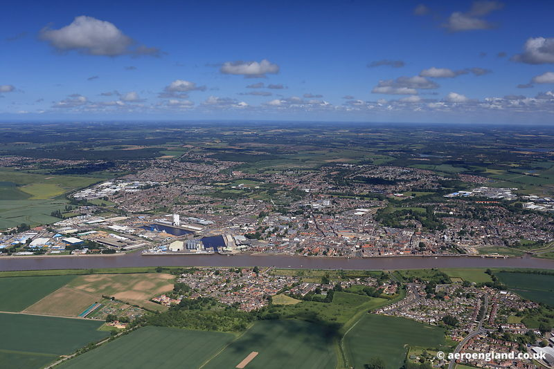 aerial photograph of King's Lynn  Norfolk UK
