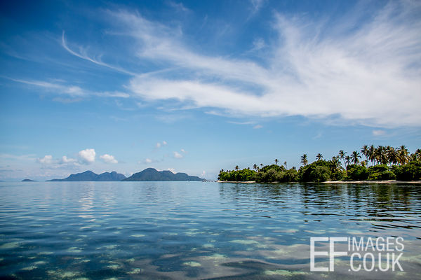 Another Sunny Day On Kulapuan Island, Sabah, Borneo