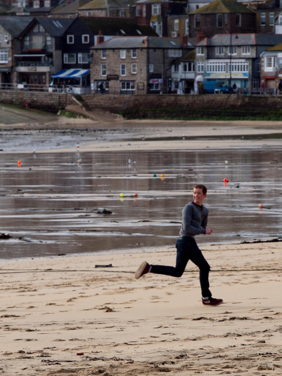 running with the silver ball in the St Ives Feast
