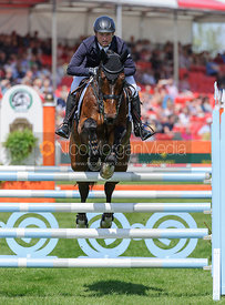 Michael Jung and LEOPIN FST - show jumping phase,  Mitsubishi Motors Badminton Horse Trials, 6th May 2013.