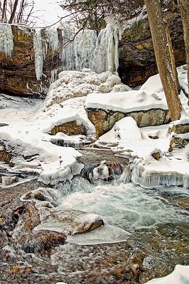 Winter, Below Cucumber Falls- Ohiopyle, PA