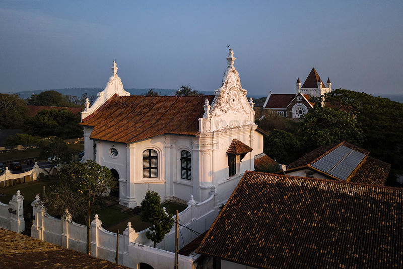 The Dutch Reformed Curch and the All Saints Anglican Church in the Historic City of Galle
