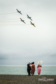 "Art Deco Sunday 2011.  The Gatsby Picnic.  ""Those Magnificant Men"" flying display (air show).  New Zealand Warbirds Aerobatic..."
